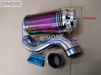 Wholesale Gy6 Scooters - Scooter GY6 50 GY6 125 GY6 150 performance air filter assembly   Air Cleaner   Air Box with LED light , Stainless Steel body