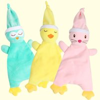 Wholesale baby towel stuff toy for sale - Baby Towels Stuffed Animals Bib CM Baby Bandana Plush Cartoon Infant Soft Appease Towel Toys Calm Doll Teether GGA1303