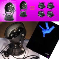 bulbo uv de alta potência venda por atacado-LED de alta potência 365nm BLB Ultra Violeta UV Blacklight Blue, para performances, lâmpadas resistentes a impacto 5LED substituem 150W Preto L