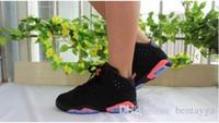 ingrosso scarpe da basket a basso prezzo-2017 Chaussures air jordans retro 6 nuovo 6 nero bianco a raggi infrarossi basso cromo Oreo 6 s prezzo all'ingrosso scarpe da basket scarpe da uomo 2016 uomini donne US5.5-13