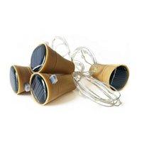 gece perileri toptan satış-Güneş Bakır dize Şarap Şişesi Tıpa 1 m 10LED Bakır Peri Şerit Tel Açık Parti Dekorasyon Yenilik Gece Lambası