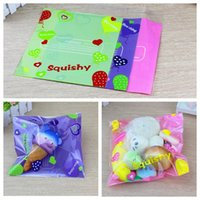 Wholesale kawaii kids - Squishy Retail Packages bag s For Slow Rising Squeeze Jumbo Toys Phone Charms Kawaii Bag not including Squishy 20*24cm KKA4861