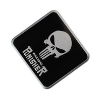 logo seçenekleri toptan satış-Serin Punisher sembolü Kafatası Başkanı Sticker Araba Styling Metal Amblem 3D Çıkartmaları Yaratıcı Mark Rozet Oto Çıkartmalar [Daha Kafatası logo seçeneği]
