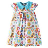 синие комплекты белья оптовых-Bebini Платье без рукавов + Комплекты нижнего белья Летние хлопчатобумажные платья для малышей Детская одежда для девочек Princess Blue 73