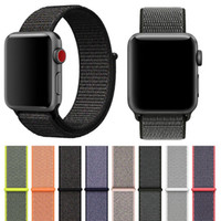 Wholesale like watches - Sport woven nylon loop strap for apple watch band wrist braclet belt fabric-like nylon band for Iwatch series 1 2 3
