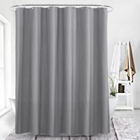 Wholesale grey shower curtain resale online - Grey square lattice digital printing waterproof thickening shower curtains for bathroom with Plastic clasp Bathroom Accessories for Bath