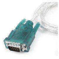 usb seri dönüştürücüler toptan satış-USB A RS232 DB9 XP Win 7 için 9 pin Seri Port Kablosu Dönüştürücü 8