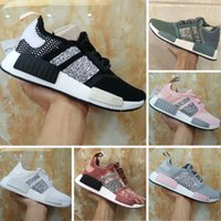 Wholesale Womens Sequin Shoes - 2018 Boost R1 Runner Sequins Womens Knitting Casual Shoes Originals Boost R1 PK Sequins Mesh Casual Shoes