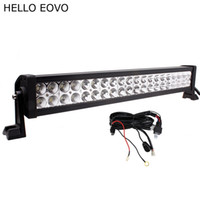 Wholesale Atv Lighting Kit - HELLO EOVO 22 Inch 120W LED Light Bar + Wiring Kit for Indicators Work Driving Offroad Boat Car Truck 4x4 SUV ATV Fog Combo