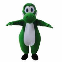 yoshi navidad de peluche al por mayor-Mascota unisex por encargo para Super Mario Yoshi felpa traje de la mascota para Navidad