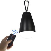 ingrosso lampadina principale ricaricabile usb-Camping Light 1.5W Anti Mosquito Led Bulb Remote Control impermeabile IP65 USB ricaricabile appeso a pesca portatile Bivvy Light