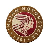 ingrosso i vestiti indiani liberano il trasporto-1901 INDIAN MOTORCYCLE Rocker Ricamato il Ferro Sul Patch Moto Biker Club MC Anteriore Giacca Gilet Patch per Abbigliamento Spedizione Gratuita