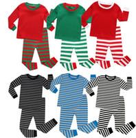 Boys and Girls Christmas Pajamas Sets Kids Striped Pajamas for Christmas  Boys pajamas nightwear kid KKA6167 73d50e629