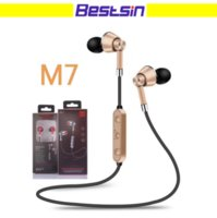 Wholesale Apple Noise - M7 Bluetooth Headphones Bluetooth V4.2 Wireless Earphone Noise Cancelling with Mic for Talking Iphone X S8 Free DHL Shipping