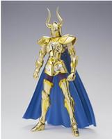 figuras de acción saint seiya al por mayor-Modelo de juguetes Oferta especial Lc Capricornio Shura figura de acción Saint Seiya Myth Cloth Gold Ex Pvc Ensamblaje Modelo de kit de juguete