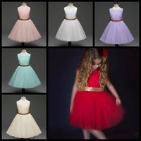 Wholesale baby blue prom gowns for sale - Group buy 2018 new baby girls summer dress backless children lace boutique skirts kids party prom dress beach skirts