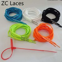 Wholesale shoelace ties online - Off Shoes Cheap Shoe Laces Fashion Oval Printed SHOELACES Colors White Orange Black Green With C Red Zip Ties For Sneaker cm quot