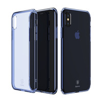 Wholesale iphone defender series online – custom Baseus For iPhone X Defender Case High Impact Heavy Duty Hard Rugged Rubber Simple Series Case Anti fall TPU Transparent Case for iPhone X