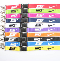 Wholesale sport camera holders for sale - New sport Clothes logo Lanyard ID Badge Keychain Holder chain iPod Camera Neck Strap Detachable Multicolor