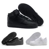 designer fashion 2e6a8 f4621 nike air force 1 one af1 2018 el más nuevo clásico todo blanco negro gris bajo  alto 1 corte hombres mujeres deportes zapatillas de deporte zapatos casuales  ...