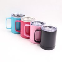 Wholesale insulated cap - 12   20   30 ounce Stainless Steel Keep warm Car Cup Bottle Stainless Steel Colourful Mug With Insulated Leak-Proof Cap in stock