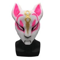ingrosso maschere animali-3 Style Natural Latex Gioco Fortnite Sky Fox Mask Maschere di animali di Halloween Masquerade Cosplay Party