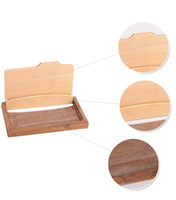 tarjetero de madera al por mayor-Moda hombre mujer Unisex nombre de madera ID de empresa titular de la tarjeta de crédito caja de almacenamiento de la tarjeta de madera Home Office Supplies ZA3194