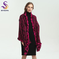 Wholesale rabbit hair shawl for sale - BYSIFA Winter Women Pure Wool Rabbit Hair Scarves New Accessories Ladies Warm Scarf Shawl Thicken Top Grade Scarves Wraps