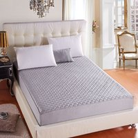 Wholesale mattress cribs - Hypoallergenic Quilted Bed Mattress Pad Waterproof Mattress Cover Soft Topper Washable Protector Matelas
