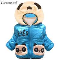 Wholesale panda clothing for baby boys for sale - Group buy New Winter Baby Boys Coat Jackets For Girls Clothes Cotton Panda Children Hooded Girl Down Jackets Warm Boy Coats Kids Outerwear