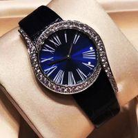 relojes de belleza al por mayor-Relojes de pulsera de señora de la marca de lujo superior Relojes de señora de diamantes bonitos de Bling Buen regalo para la reina de belleza 32 mm con caja