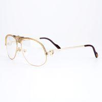 Wholesale Read Diamond - Luxury Women Metal Frames Reading Glasses Diamonds Gold Glasses Myopia Eyewear Frame Men Brand Designer Fashion Eyeglasses with Box CT1112