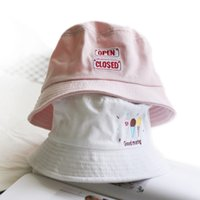 499002a6eff bucket hat cap hip hop Australia - Bucket Hat Fashion Letter BANG  Embroidery Fisherman Hats Men
