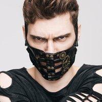 gotik maskeler toptan satış-Buhar Punk Maske Steampunk Gotik Cosplay Cadılar Bayramı Partisi için Retro Maske Kaya Tekerlek Erkek Kadın Maskeleri