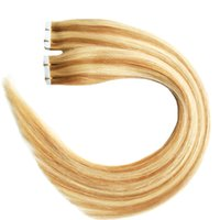 Wholesale seamless tape human hair extensions for sale - Group buy P27 g Full Cuticle Seamless Straight PU Skin Weft Extensions Tape in human hair extensions Body Wave virgin brazilian hair