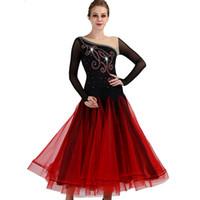 бальных танцев платья для взрослых оптовых-Standard Ballroom Dance Dresses Women 2018 New Style Flamenco Dancing Costume Adult Elegant Waltz Ballroom Competition Dress