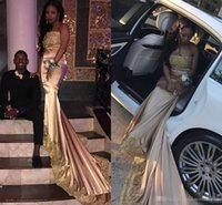 strapless deep v white dress 2018 - Vintage 2018 African Dark Champagne Strapless Long Prom Dresses Gold Lace Appliqued Beaded Prom Evening Gowns For Black Girls Wear