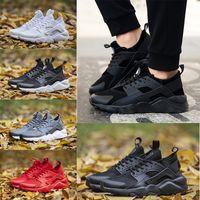 Wholesale Breathe Design - air Huarache 4 Run Running Shoes 2018 New Design Air Huarache Ultra Triple Black White Huraches 4s Sneakers Ultra Breathe sport Shoes