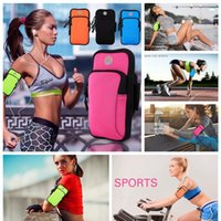 Wholesale Cell Armband Wallet - Gym Running Jogging Sports Wallet Pouch Waterproof Armband Case For Cell Phone Outdoor Arm Bag 5 Colors OOA4254