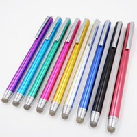 Wholesale ebook reader - 6 mm conductive fabric fiber tip metal ebook reader stylus pen touch screen Testing pen from Guangdong