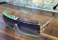 augenverschluss linse groihandel-Mens Square Vintage Legend Kristall Sonnenbrille Blau Objektiv Fashion Brand Sonnenbrille Eye Wear Neu mit Box