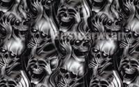 auto körper grafikaufkleber großhandel-Skull Camo Vinyl Wrap Aufkleber Auto Hood, Vinyl Aufkleber, Auto Vinyl Graphics Aufkleber, Wrap, Motorhaube Grafiken, passen alle Fahrzeuge 1.52x30m 5x98ft
