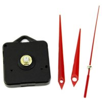 replacement hands Canada - Wall Clock DIY Repair Tool Red Hands Quartz Clock Movement Mechanism Parts Kit Replacement Essential Tools