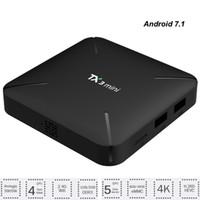 nueva caja de tv al por mayor-Android 7.1 Smart TV Box Amlogic S905W Reproductor multimedia de cuatro núcleos Streaming 2GB 16GB Wifi Decodificador más nuevo TX3 Mini TVbox 1G RAM 8G ROM HBO