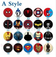kt mobile großhandel-Neue lot 100 stücke Mix Spider-Man Captain America Iron Man KT katze Sup handy airbag stent teleskopstütze Kostenloser versand