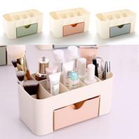 Wholesale Desktop Drawers - Multi-function Drawer-type Space Saving Plastic Cosmetics Storage Box Makeup Organizer Office Desktop Storage Bin Home Organization WX9-258