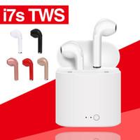 micro invisible bluetooth achat en gros de-2018 I7S TWS Twins Mini Bluetooth Earbud Sans Fil Invisible Casque Casque avec Micro CSR4.1 Stéréo Blurtooth Écouteur Pour iPhone