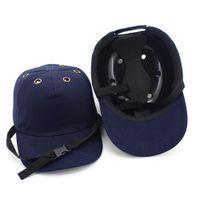 chapéus de segurança venda por atacado-2018 New Segurança Bump Cap Capacete Chapéu de Beisebol Estilo de Proteção de Segurança Chapéu Duro Para O Desgaste da Cabeça de Proteção 6 Furos
