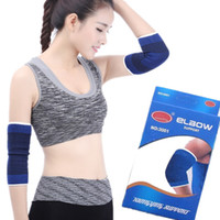 ingrosso badminton elbow pad-Più nuovo supporto gomito gomito sportivo protezione del gomito per il calcio basket badminton supporto pallavolo FBA trasporto di goccia G906Q
