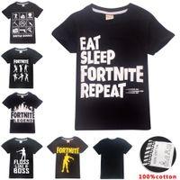 kinder mädchen kleidung design für den sommer großhandel-Jungen Mädchen Fortnite T-Shirt 100% Baumwolle 6 Designs 6 ~ 14 Jahre alt Kinder T-Shirt Sommer Kurzarm Kinder Kleidung Kinder Kleidung LA945